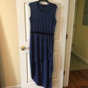 BCBGMaxAzria blue hi-low dress